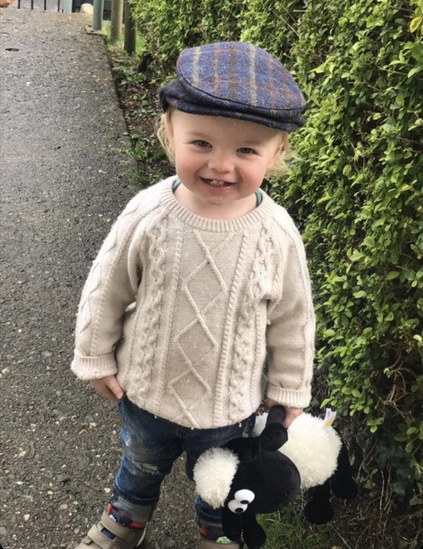 Boys Flat Cap Scally Children Irish Blue Plaid Newsboy 100/% Wool 4-8 YEARS